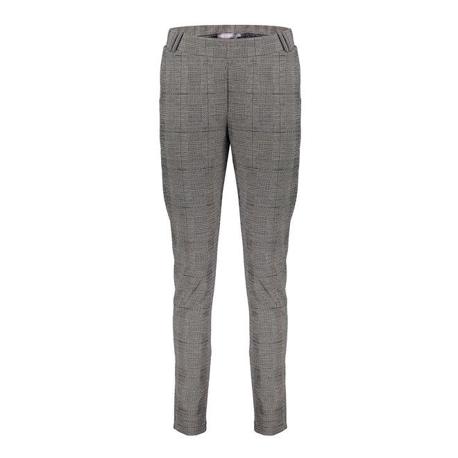 01851-24 PANTS CHECK BLACK/SAND