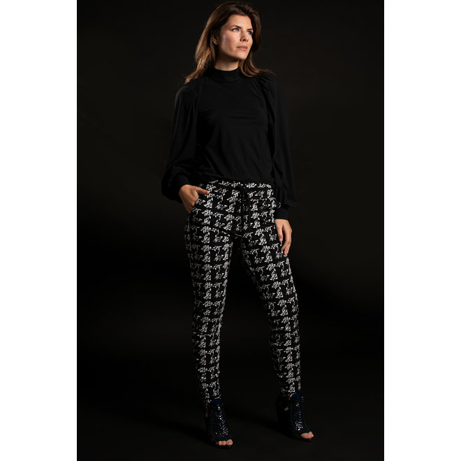 05223 ROAD KNIT LOOK TROUSERS