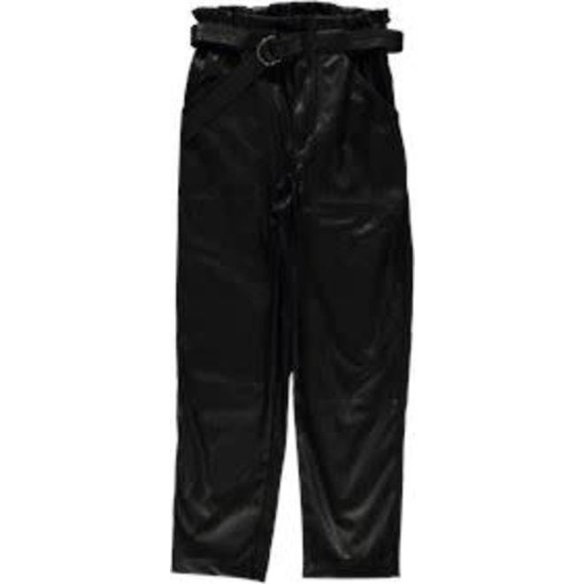 01565-19 PANTS PU HIGH WAIST BLACK