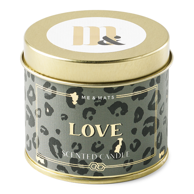 TIN CANDLE CRAZY LEOPARD