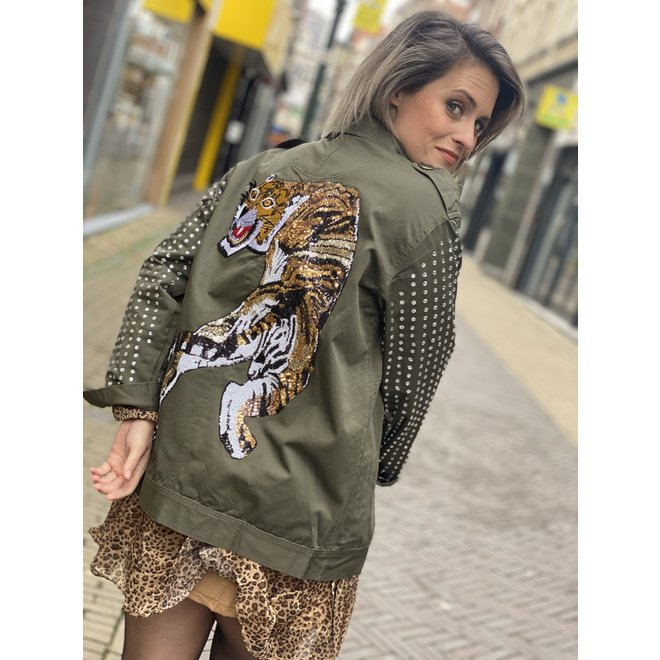 JEANS BLOUSE ARMY A203