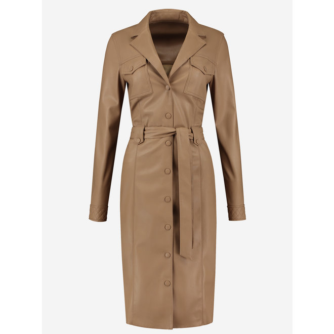 MADA SHIRT DRESS FH 5-160 2102 HAZELNUT