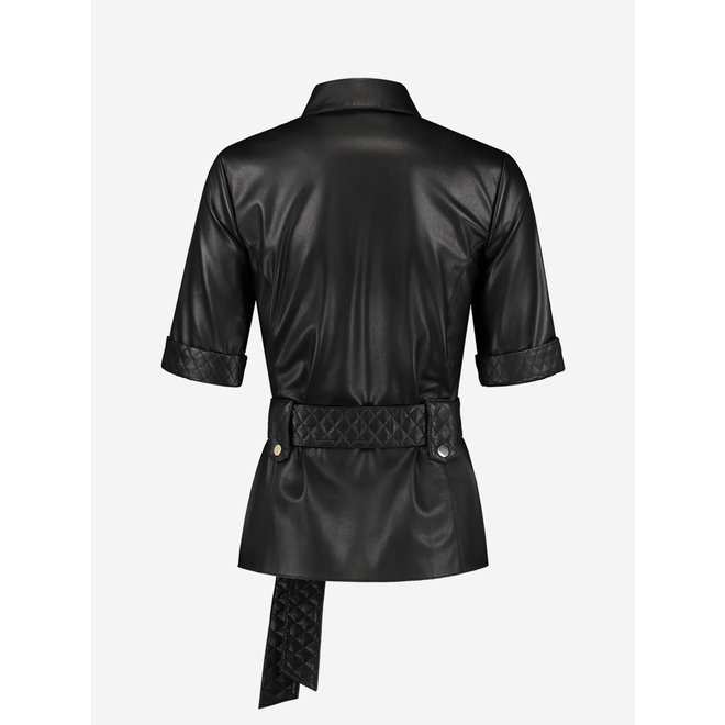 MAC BELTED BLOUSE FH 6-161 2102 BLACK