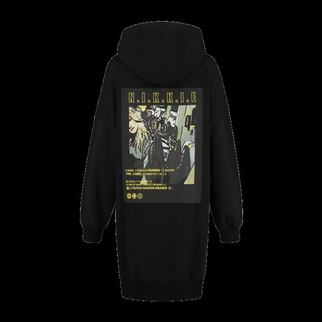 HOODIE DRESS N 5-957 2102 BLACK