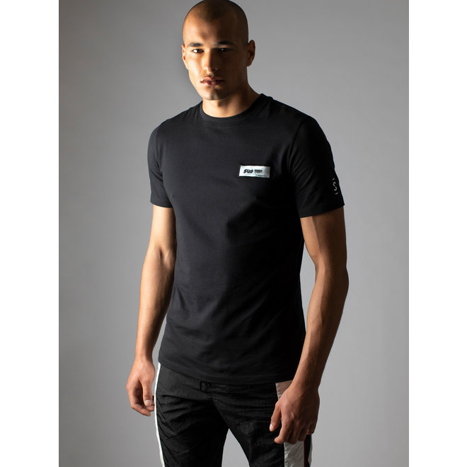 S 8-316 2102 3D PATCH REGULAR T-SHIRT BLACK