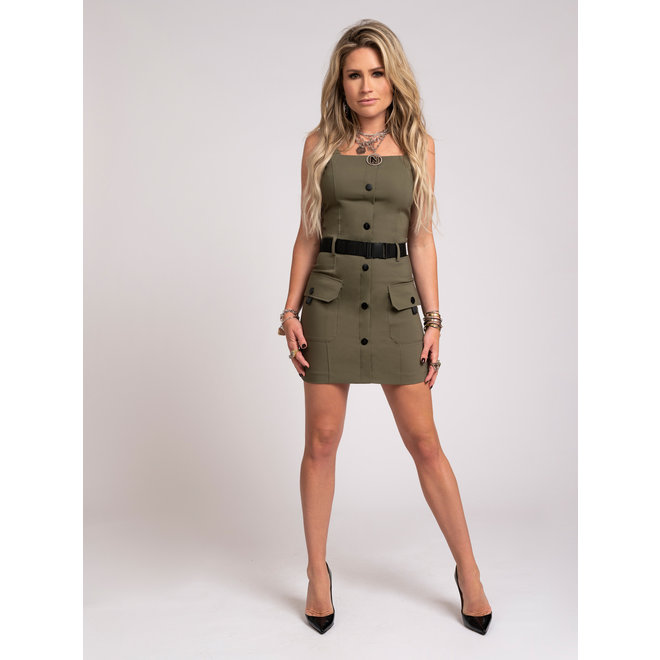 LIZZY SALOPETTE DRESS N 5-914 2102 ARMY