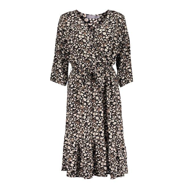 DRESS 17101-20 BLACK/WHITE COMBI 2102