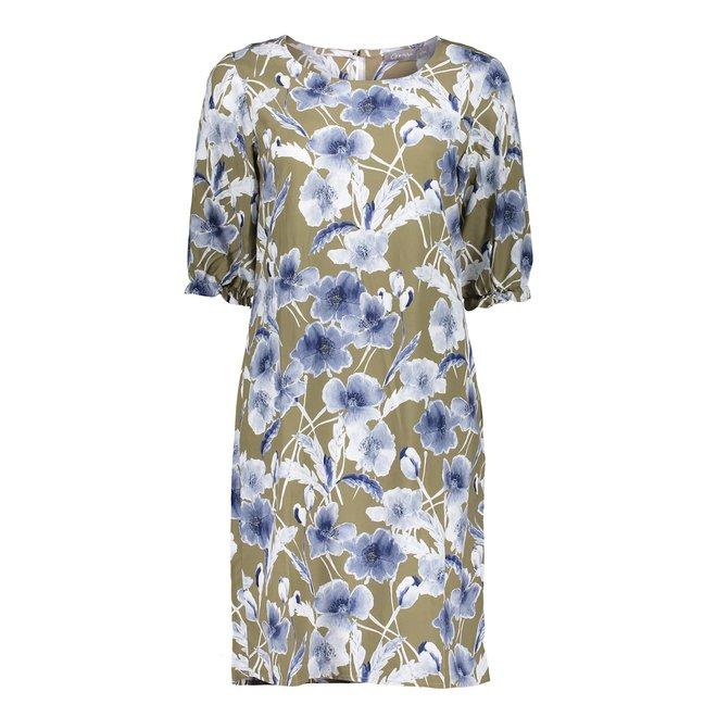 DRESS 17115-20 KHAKI/BLUE COMBI 2102