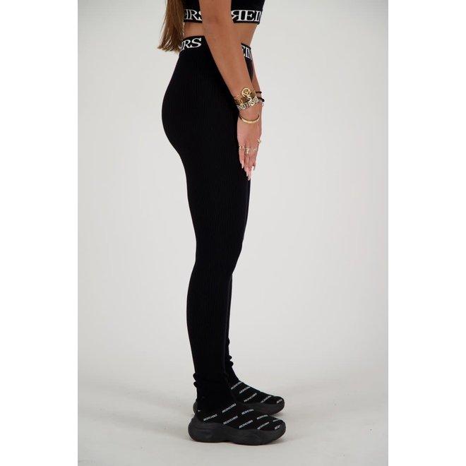 TWIN SET PANTS INTARSIA REINDERS W2031 TRUE BLACK