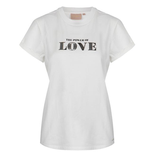 DORA POWER OF LOVE SHIRT JV-2102-0001 WHITE