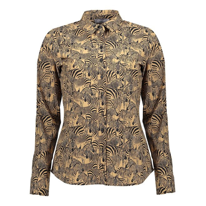 BLOUSE 13192-20 TABACCO COMBI 2101