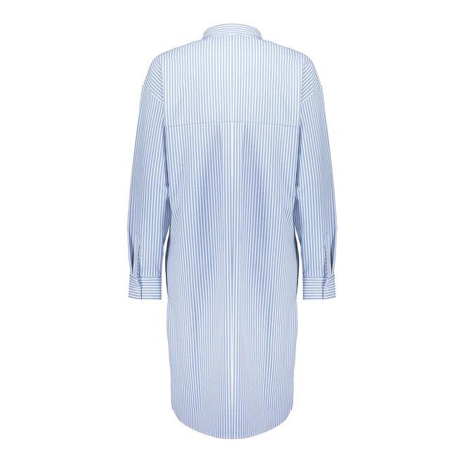 DRESS BLOUSE 17133-20 LIGHT BLUE COMBI