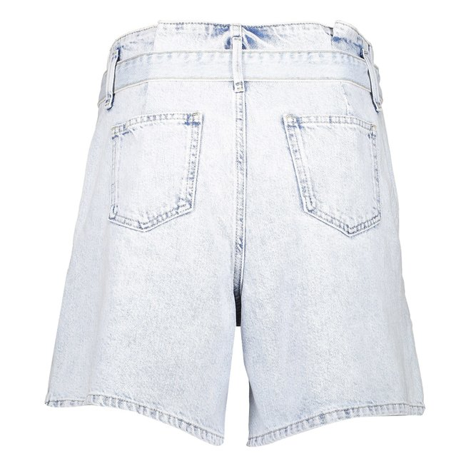 SHORT WITH STRAP 11115-24 BLEACHED DENIM 2103