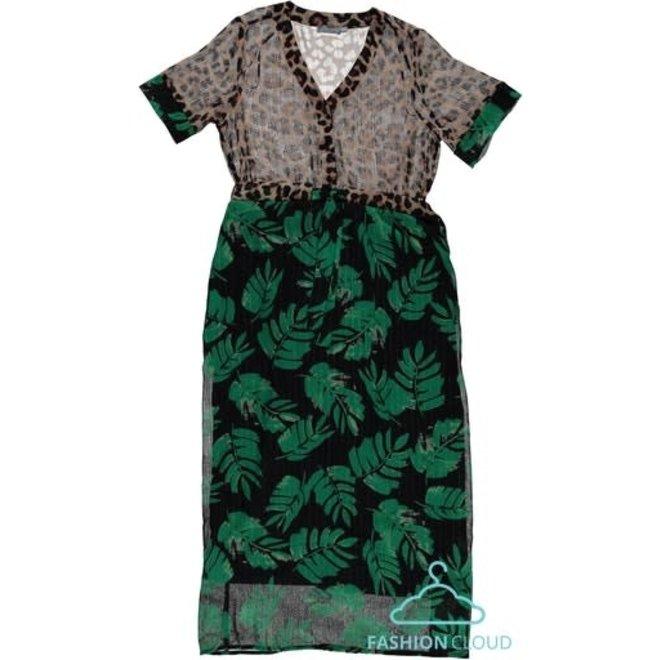 DRESS 17109-20 SAND/GREEN COMBI 2102