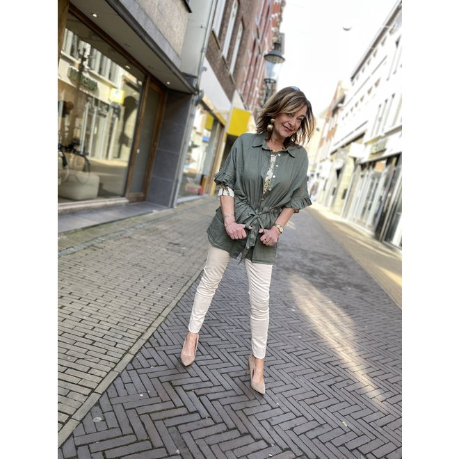 BLOUSE LINNEN 13050-70 ARMY 2103