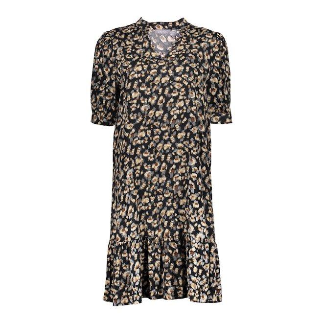 DRESS 17047-26 BLACK/BROWN 2103