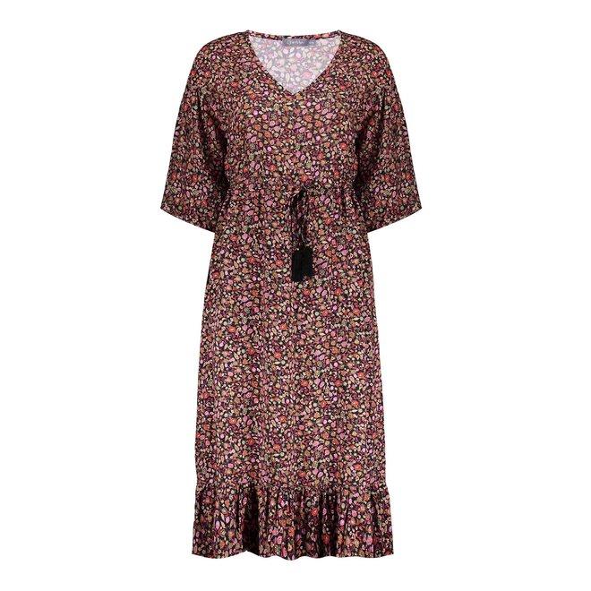 DRESS 17116-20 BLACK/PINK COMBI 2103