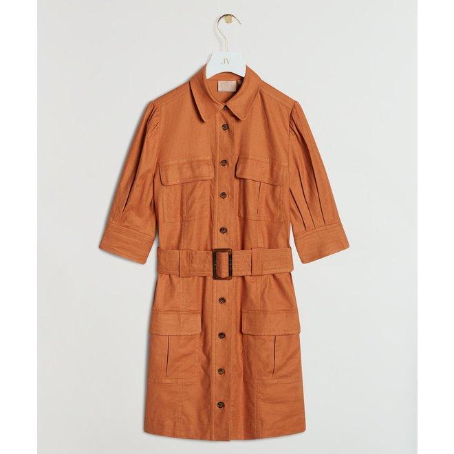 YENTL DRESS JV-2103-0402 BRONZE