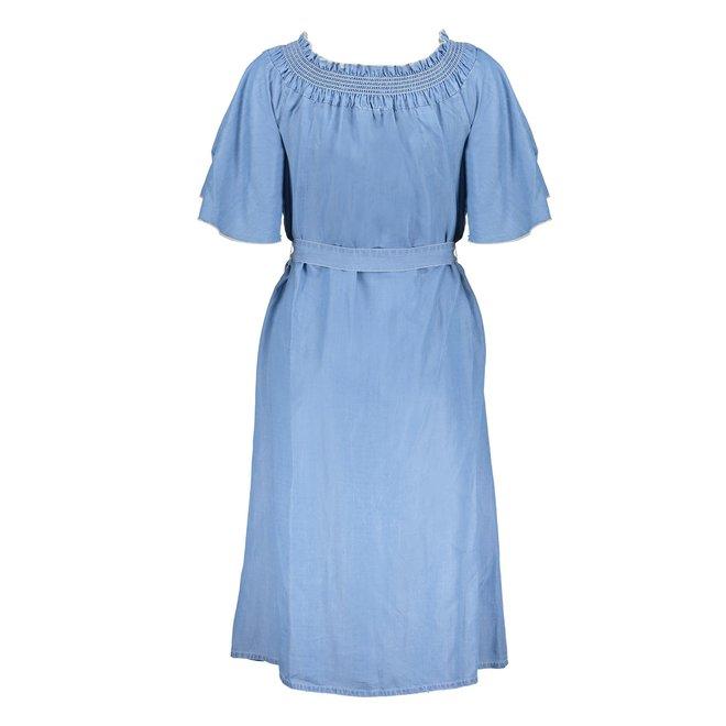 DRESS BUTTONS LYOCELL 17008-10 BLUE DENIM