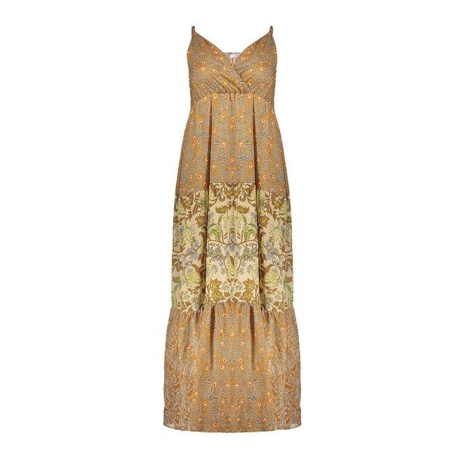 DRESS 17447-20 CAMEL/PINK COMBI 2104