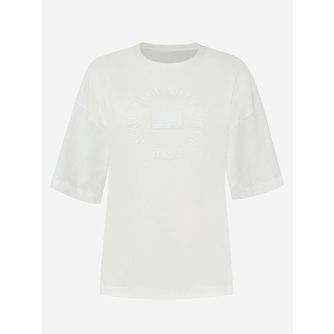 ROUND PATCH T-SHIRT N 6-178 2104 STAR WHITE