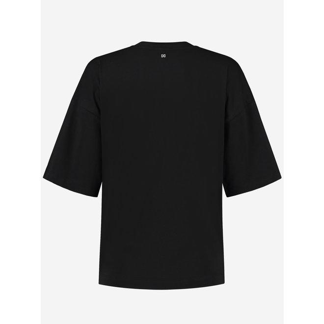 ROUND PATCH T-SHIRT N 6-178 2104 BLACK