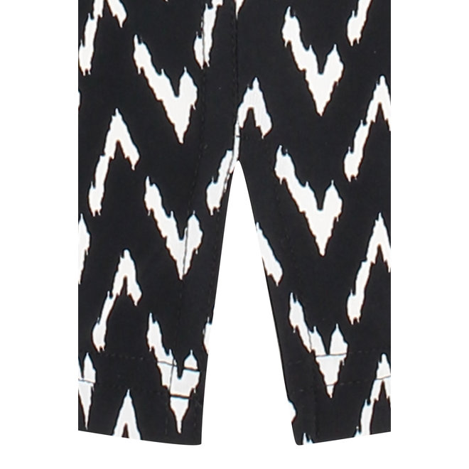 UPSTAIRS ZIG ZAG TROUSERS 05750 BLACK OFF WHITE