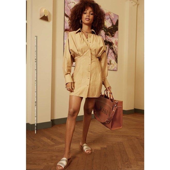 PATTY BLOUSE DRESS JV-2105-0101 CARAMEL