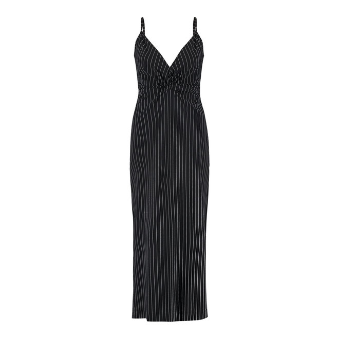 MAGIC STRIPE DRESS 05835 BLACK OFF WHITE