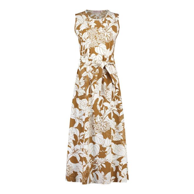 SIGRID FLOWER DRESS 05826 OFF WHITE CARAMEL