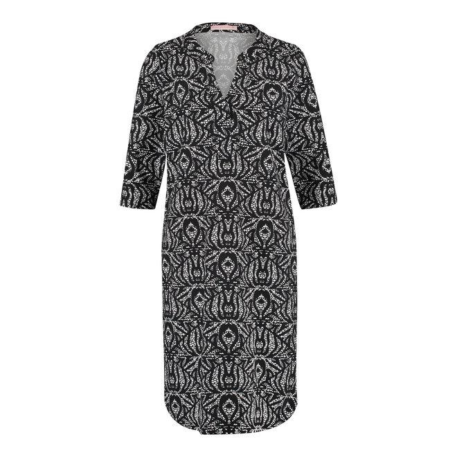 STELLA ETNIC DRESS 05833 BLACK OFF WHITE