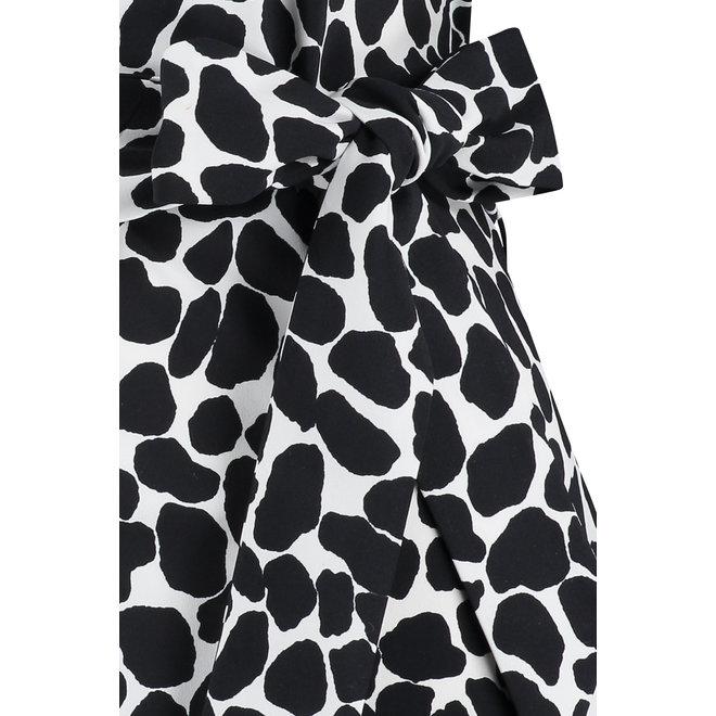 NALA STONE DRESS 05824 OFF WHITE BLACK