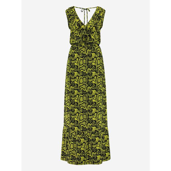 SNAKEY MAXI DRESS N 5-171 2104 POISON GREEN