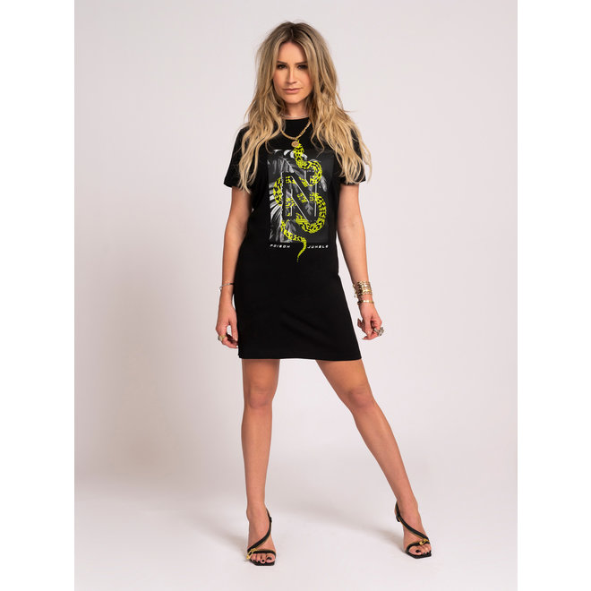 N SNAKE TEE DRESS N 5-186 2104 BLACK