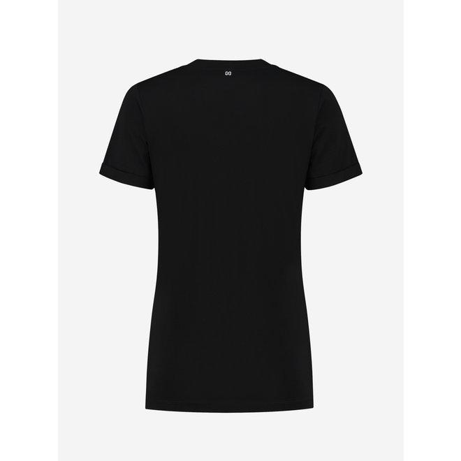 EAGLE BOYFRIEND ROLL UP T-SHIRT N 6-391 2105 BLACK