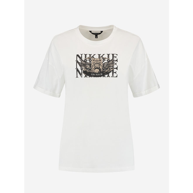 NIKKIE MOTORBIKE T-SHIRT N 6-389 2105 WHITE