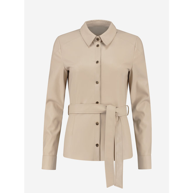MACE BELTED BLOUSE FH 6-291 2105 PASTRY
