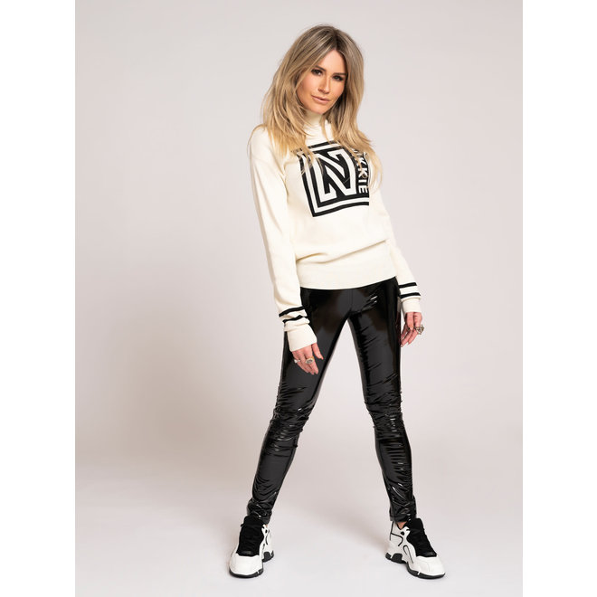 N LOGO PATCH SWEATER N7-361 OFFWHITE