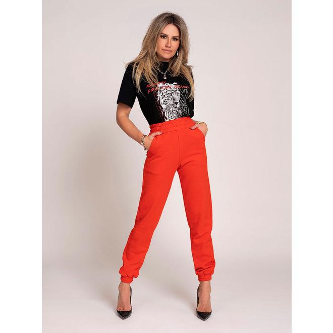 SWEAT PANTS N 2-371 2105 FIERY RED