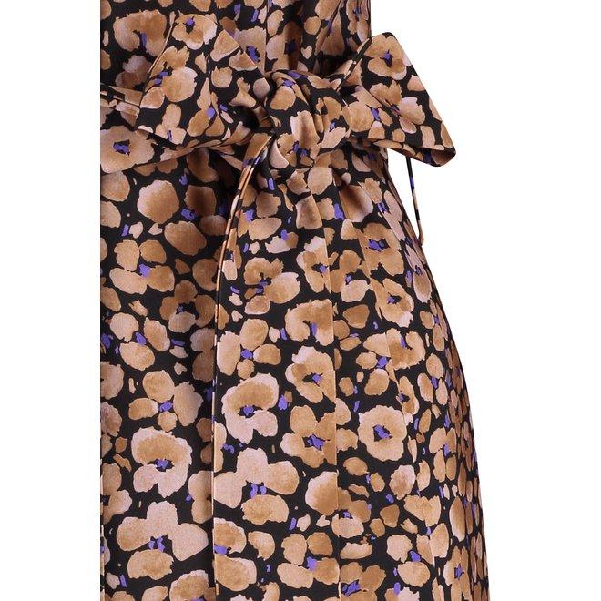 MIAH FLOWER DRESS 06123 BLACK/LILA