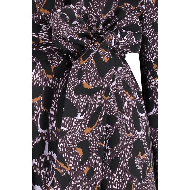 PIA ANIMAL TUNIC 06153 BLACKBERRY/BLACK