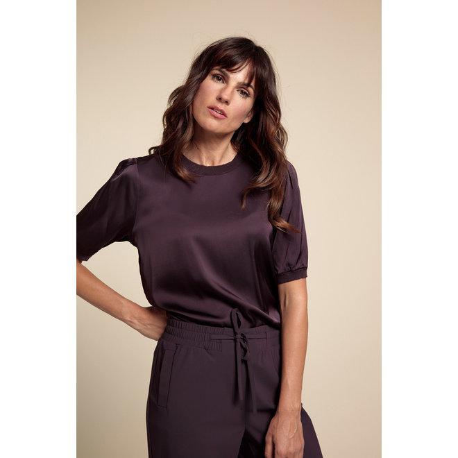 ELIZA SATIN SHIRT 06215 BLACKBERRY