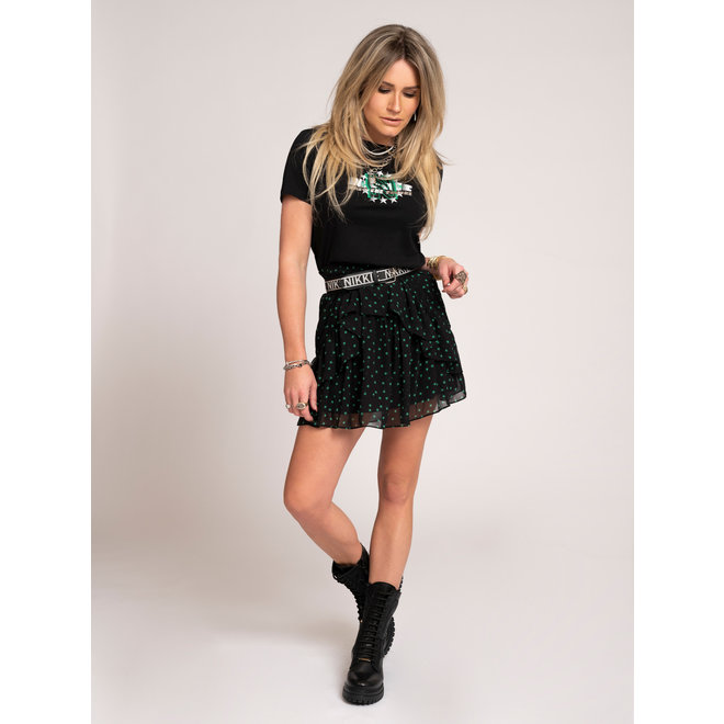 NIKKIE INTO THE FUTURE T-SHIRT N 6-383 2105 BLACK