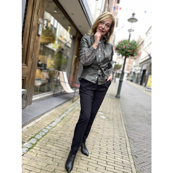 MACE BELTED BLOUSE FH 6-291 2105 BOTTLE