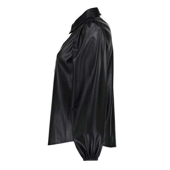 BLOUSE PU 13500-10 BLACK