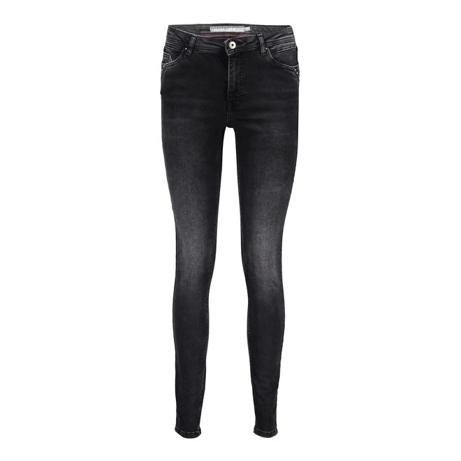 JEANS WITH ANTIQUE SILVER STUDS 11623-50 GREY DEMIN