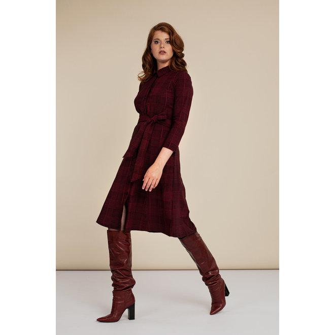 MINDY PDG DRESS 06321 BLACK/DEEP RED