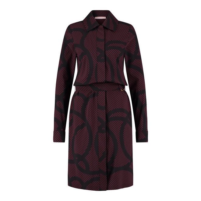 IMANY CIRCLE DRESS 06336 BLACK/DEEP RED
