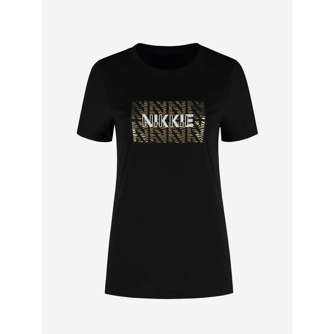 NIKKIE ZEBRA T-SHIRT BLACK N 6-463 2106
