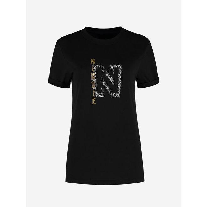 GOLDEN NIKKIE T-SHIRT BLACK N 6-462 2106